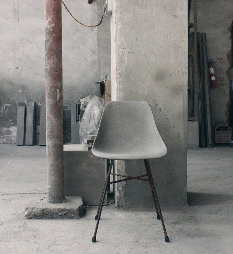 muebles cemento diseño moderno obra