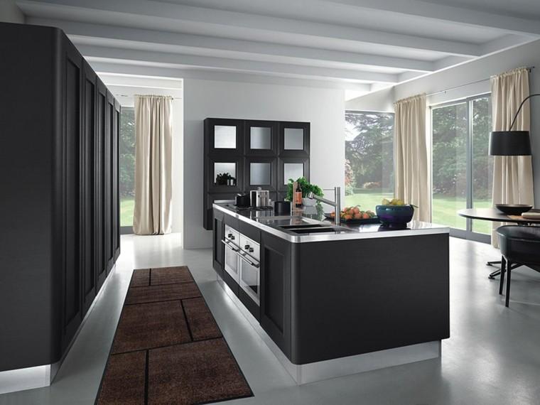 muebles cocina color gris oscuro