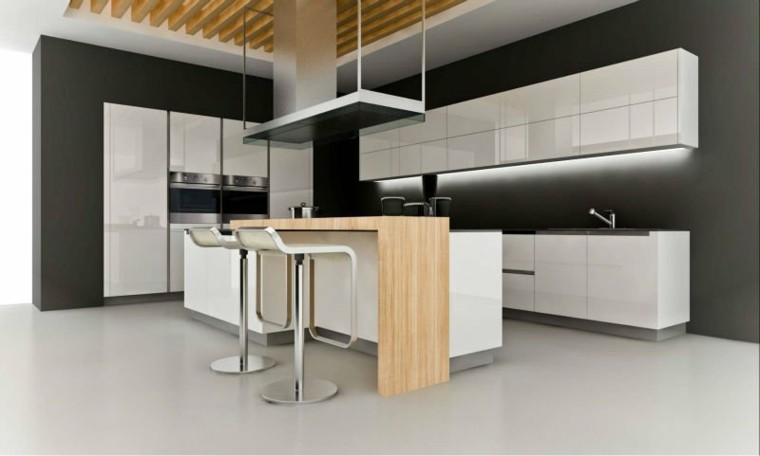 muebles cocina isla madera natural