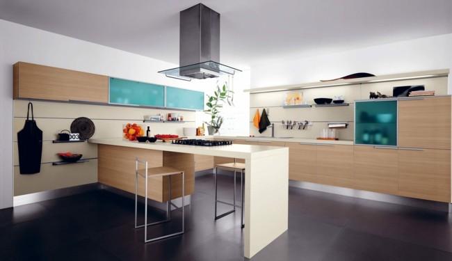 muebles cocina puertas color celeste