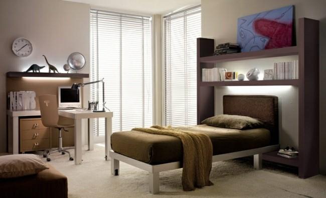 muebles habitación color marron
