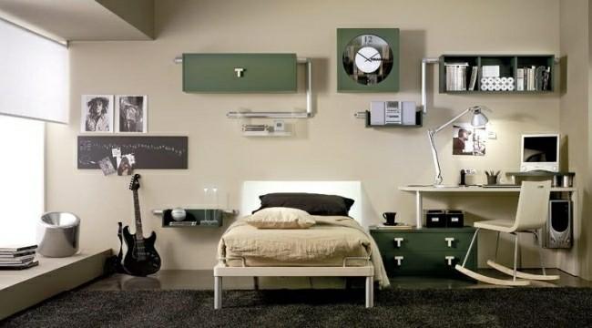 muebles dormitorio retro verde aceituna