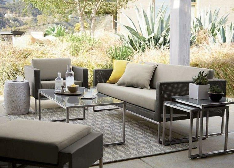 muebles exterior diseño creativo cojines