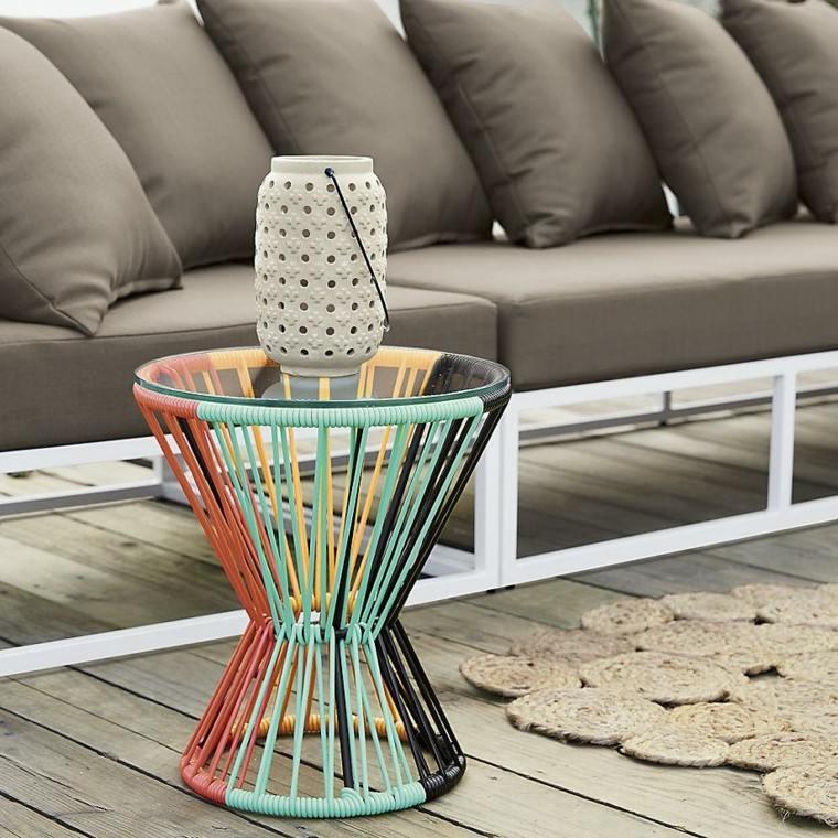 muebles exterior diseño lampara mesa
