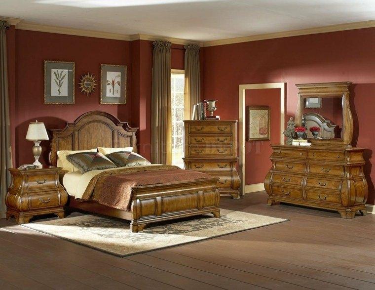 Dormitorios de matrimonio de colores oscuros 50 ideas - Colores maderas para muebles ...