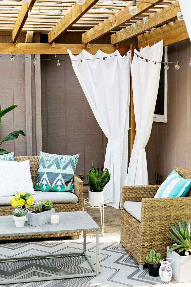 wicker furniture cushions blue colors