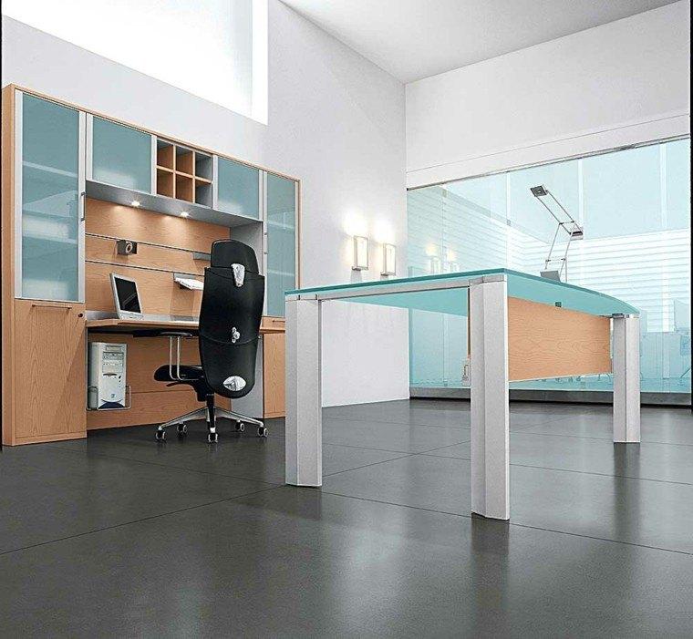 muebles oficina cristal madera