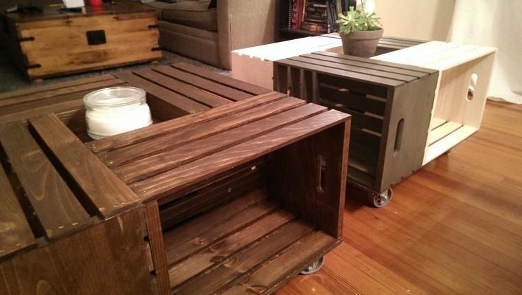 Muebles reciclados hechos con cajas de frutas for Muebles palets reciclados