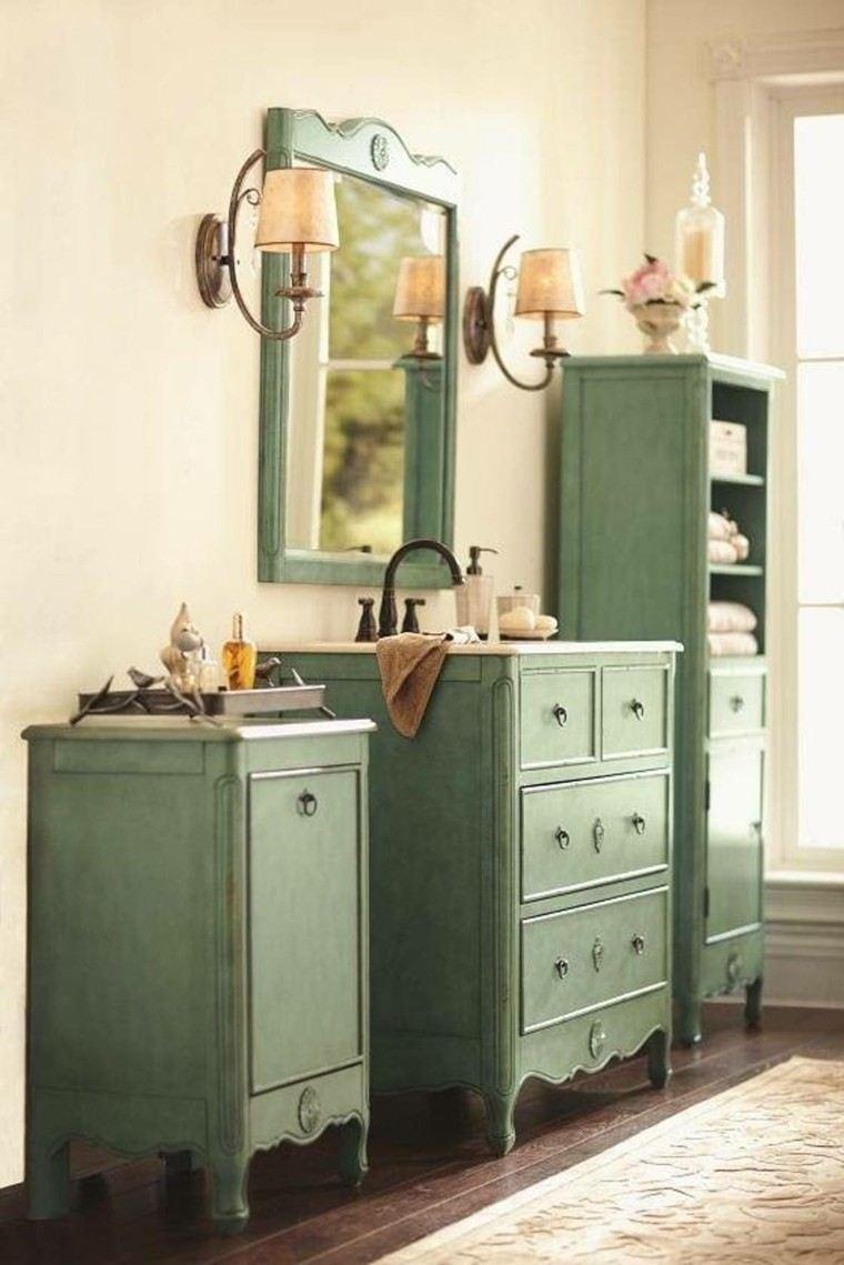 Decorar ba os con muebles de ba o y accesorios vintage - Mueble bano vintage ...