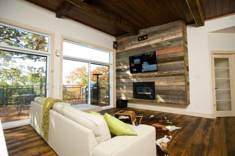 muro panel salon tele palets