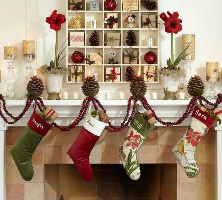 navidad ideas decoracion blanco medias