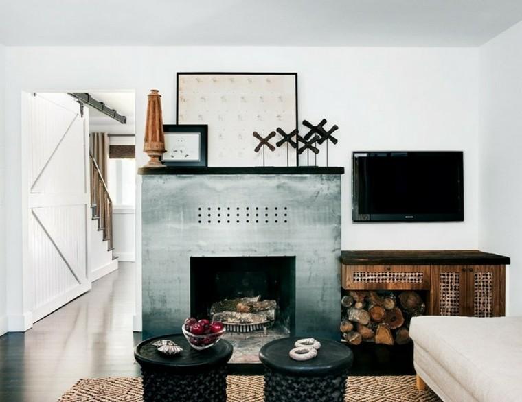 negro estilo vasijas mueble escaleras