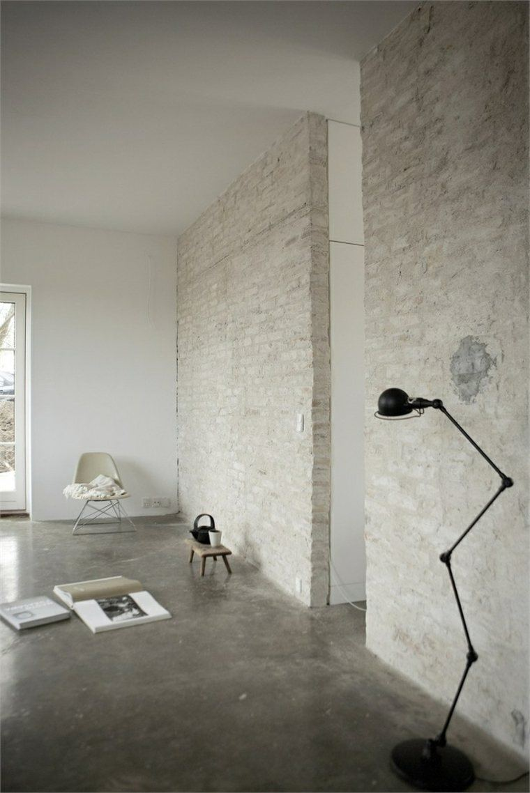 interiores modernos ladrillo cemento