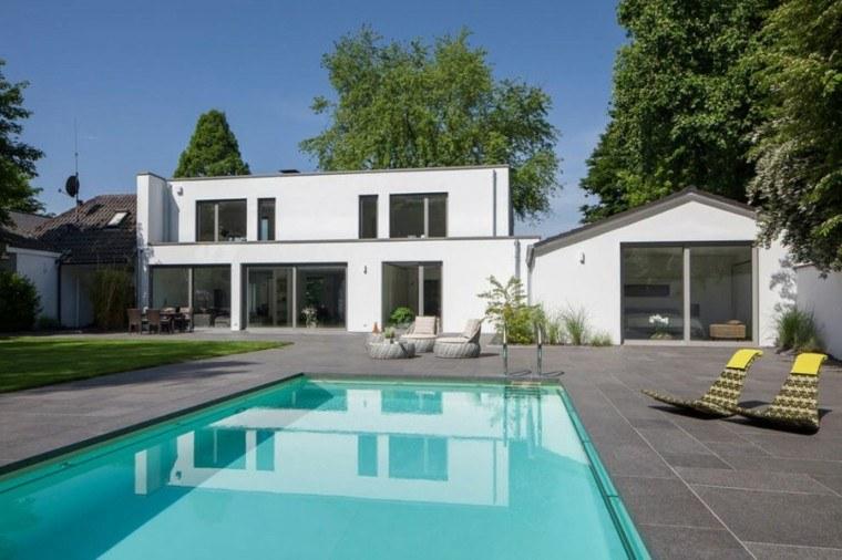 oasis moderno jardin piscina muebles diseno ideas