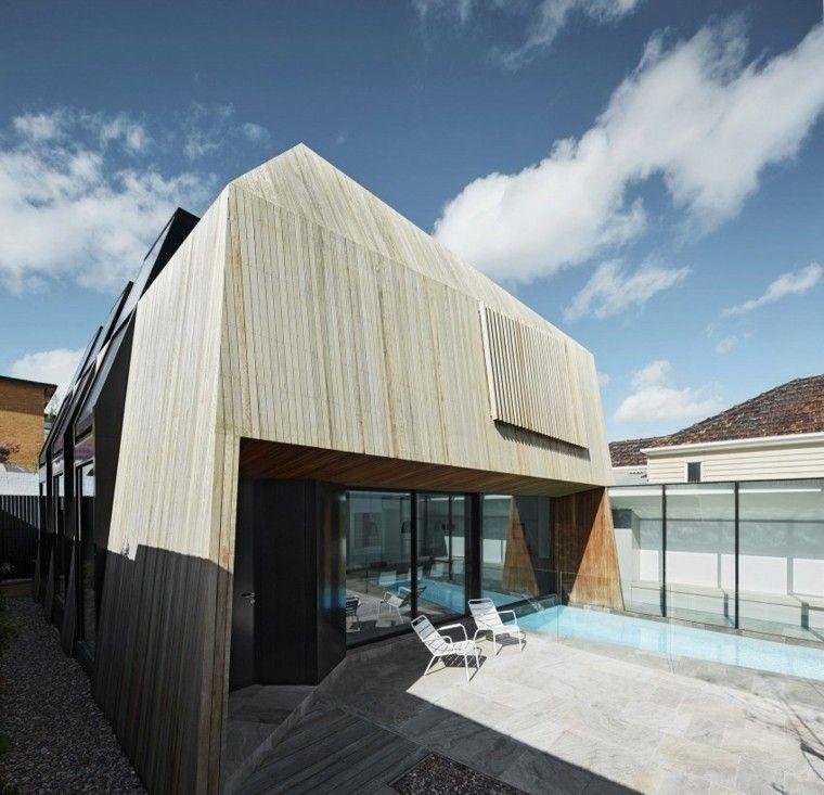 oasis moderno jardin piscina sillas blancas ideas