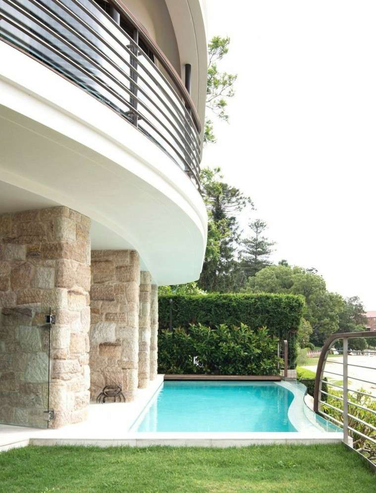 oasis moderno jardin piscina valla verde ideas