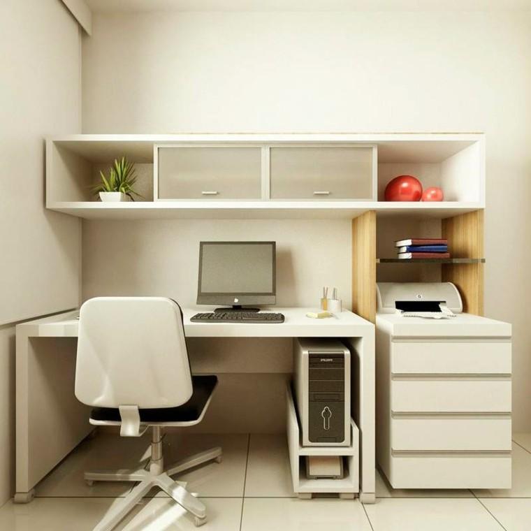 diseño oficina pequeña color beige