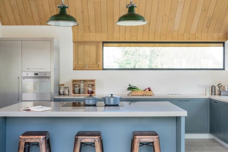 original diseño de cocinas celeste