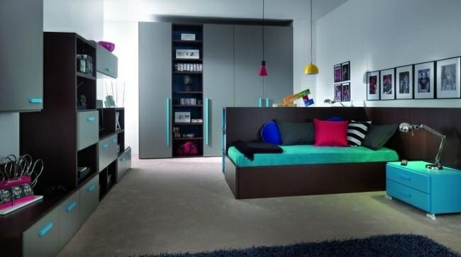 original diseño cuarto juvenil turquesa