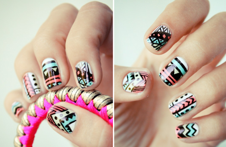 original diseño uñas pintadas colores