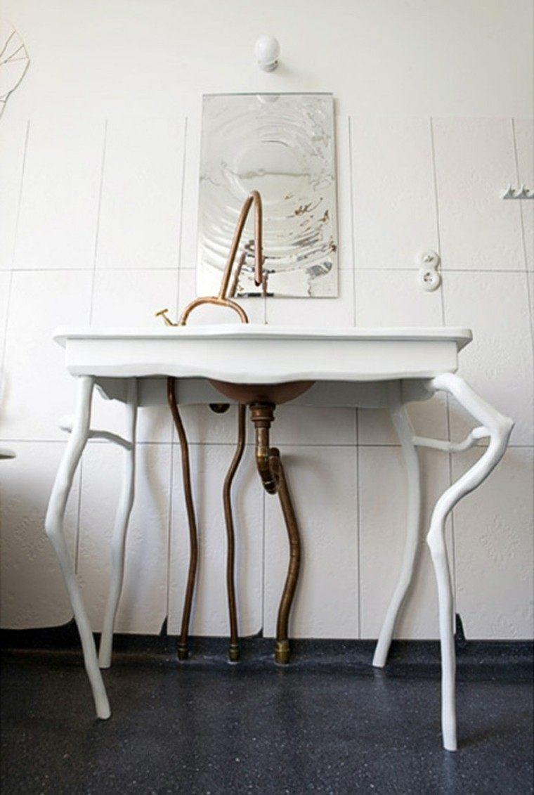 Baño Vintage Moderno:Decorar baños con muebles de baño vintage