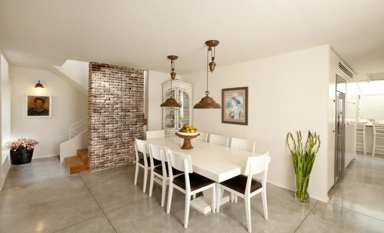 Cemento como tendencia de decoraci n para interiores Disenos modernos con elementos de madera