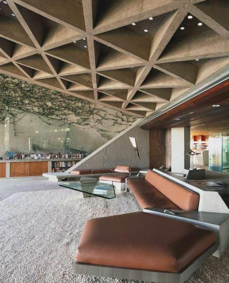 Falso techo de dise o moderno cincuenta modelos for Techumbres modernas