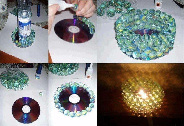 original diseo disco canicas vela