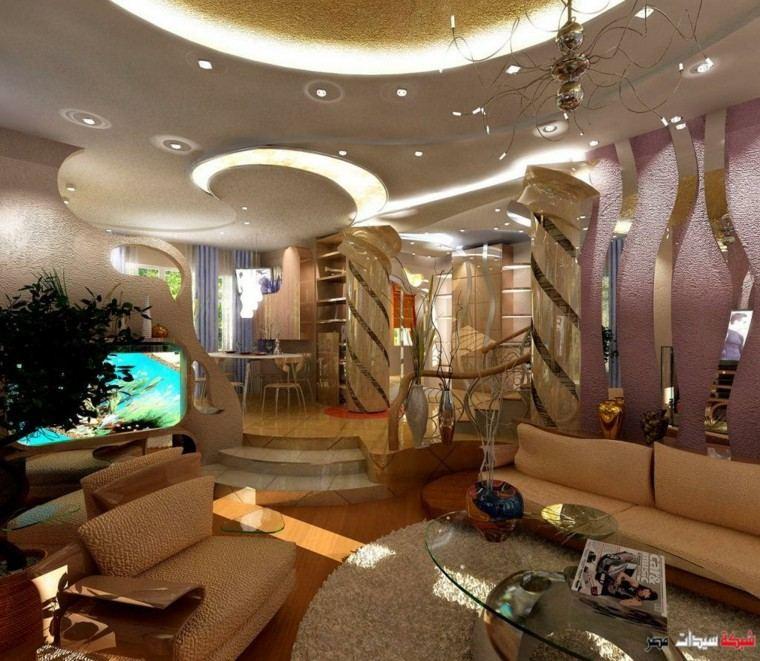 Falso Techo De Diseno Moderno Cincuenta Modelos - Diseos-interior