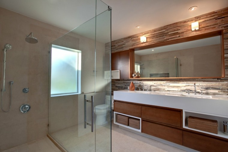 original diseño baño color marron