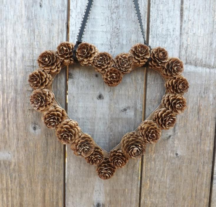 original diseño guirnalda corazon piñas