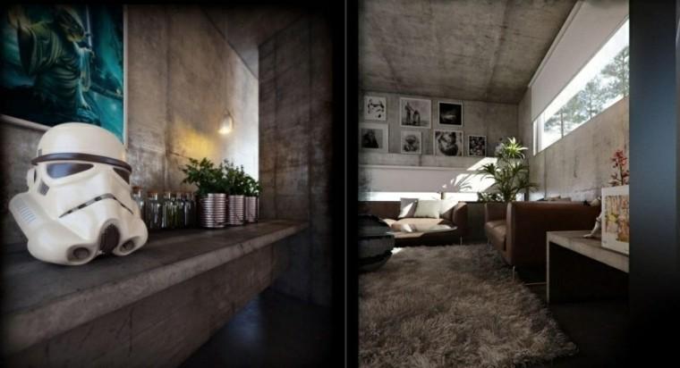 original diseño sala estar cemento
