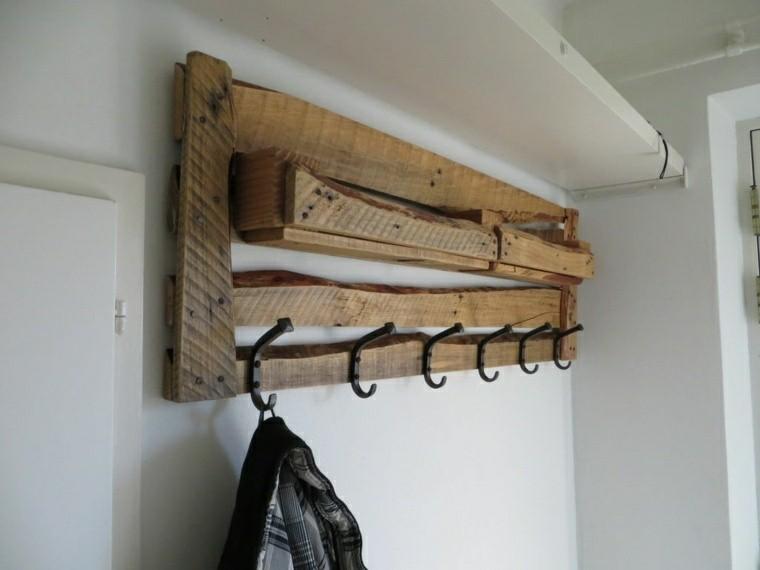 original perchero cajas de madera recibidor