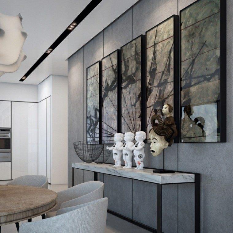 originales diseños interiores modernos cemento