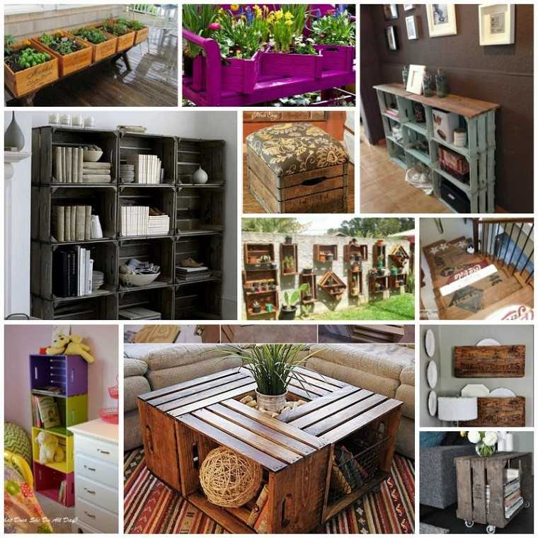 Muebles reciclados hechos con cajas de frutas for Muebles reciclados ideas