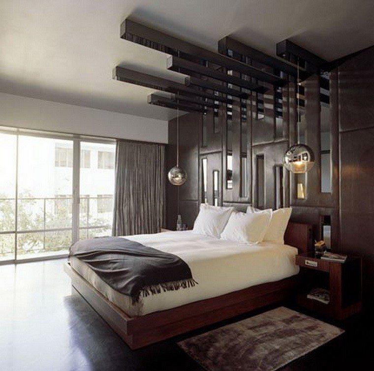 originales diseños dormitorios modernos lamparas