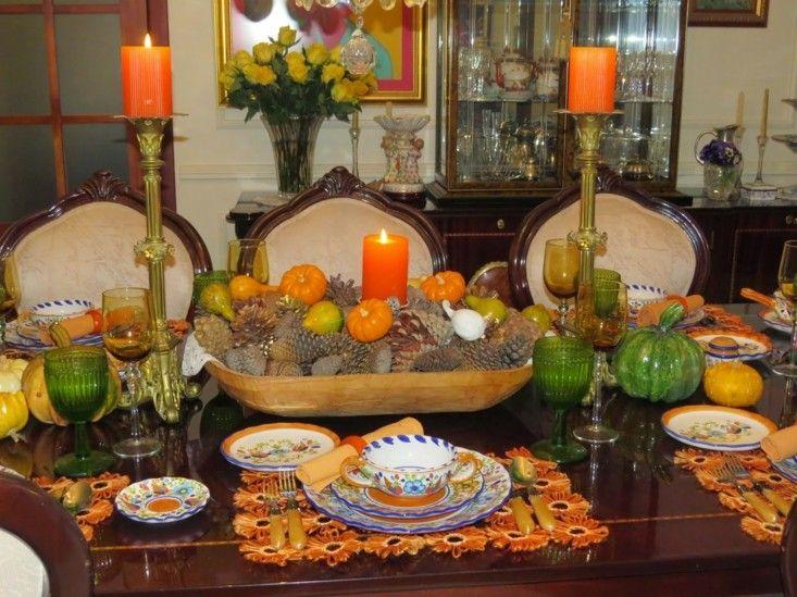 original mesa velas color naranja