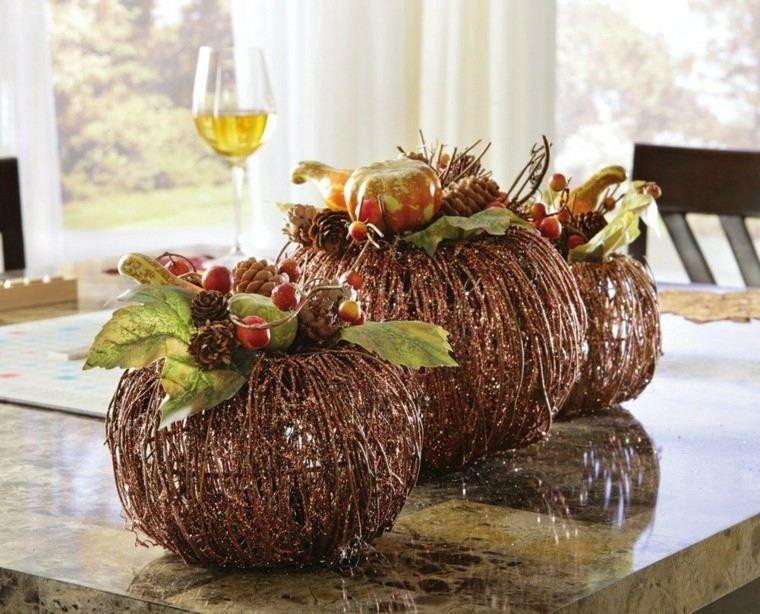 otoño centro elegante esferas ramas