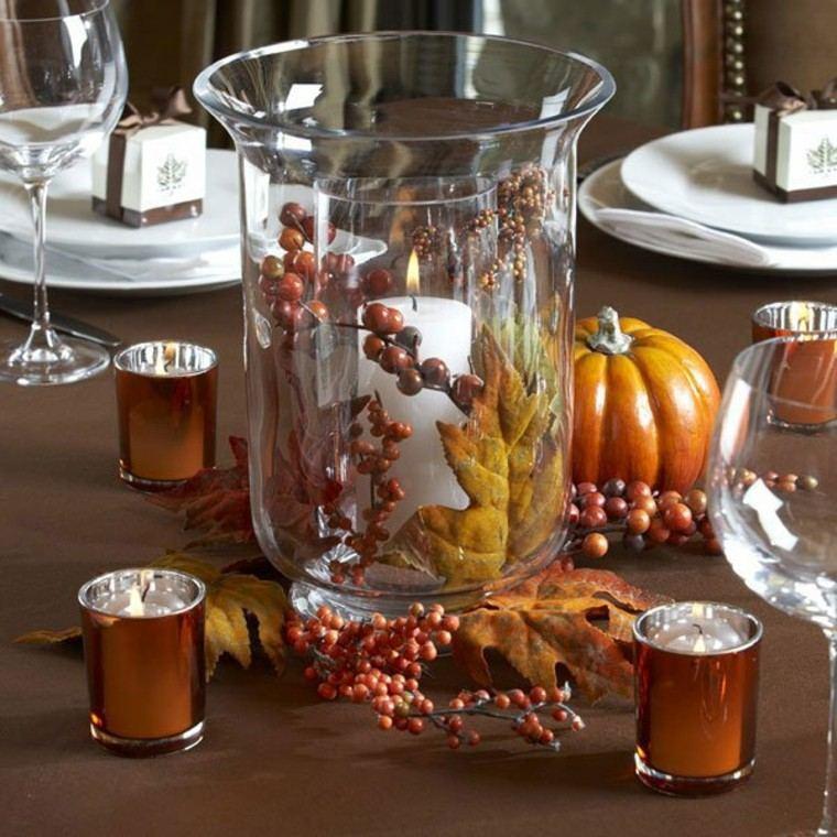 otoño centro elegante vidrio platos