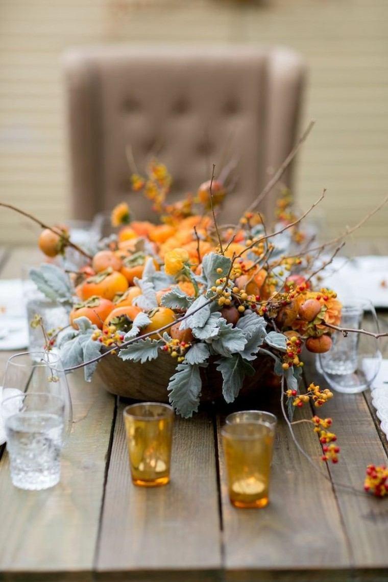 otoño centro matrimonio mesa velas