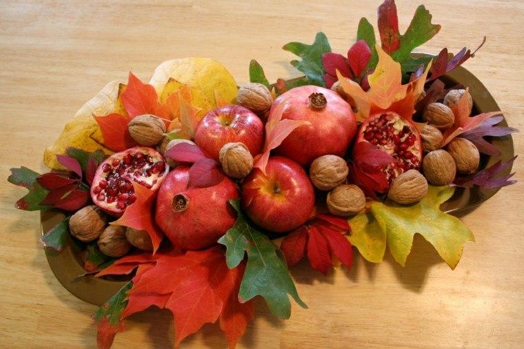 otoño centro semillas hojas manzanas