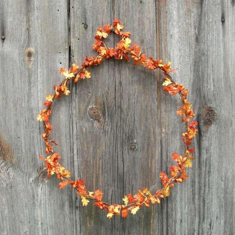 otoño guirnalda hojas secas arbol pequeno ideas