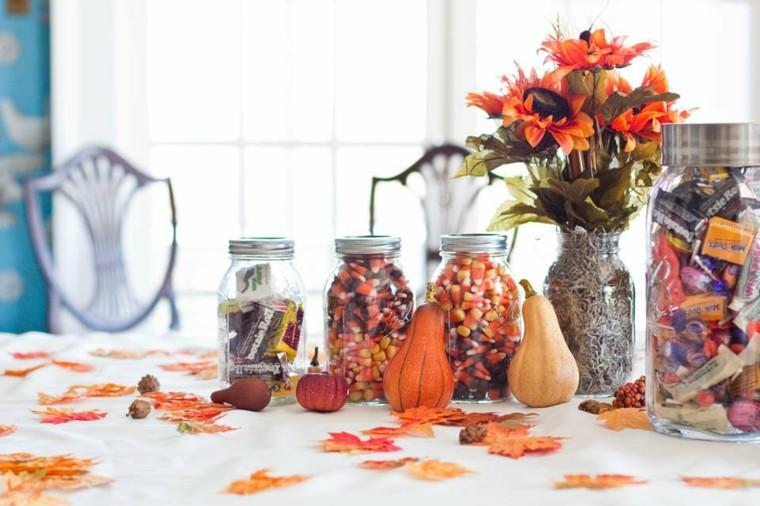otoño hojas secas arbol esparcidas mesa ideas