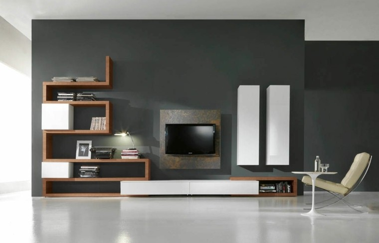 Paleta de colores oscuros para el sal n moderno - Colores para paredes salon ...