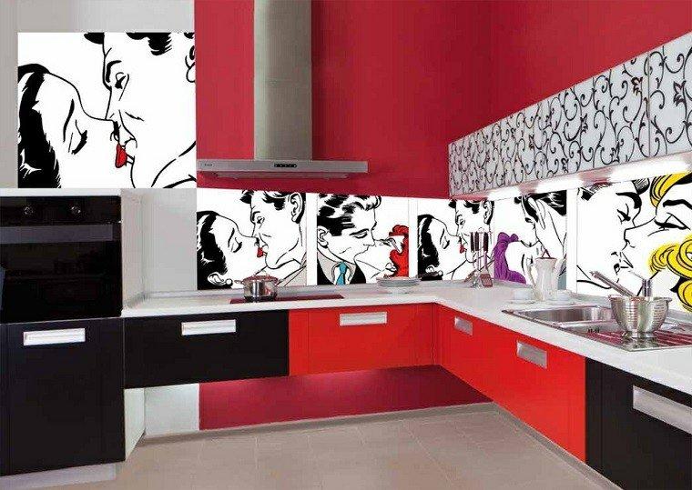 Panel de cocina 50 ideas para la pared de la cocina - Pannello cucina rivestimento ...