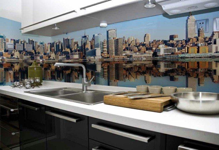panel cocina moderna foto ciudad preciosa ideas