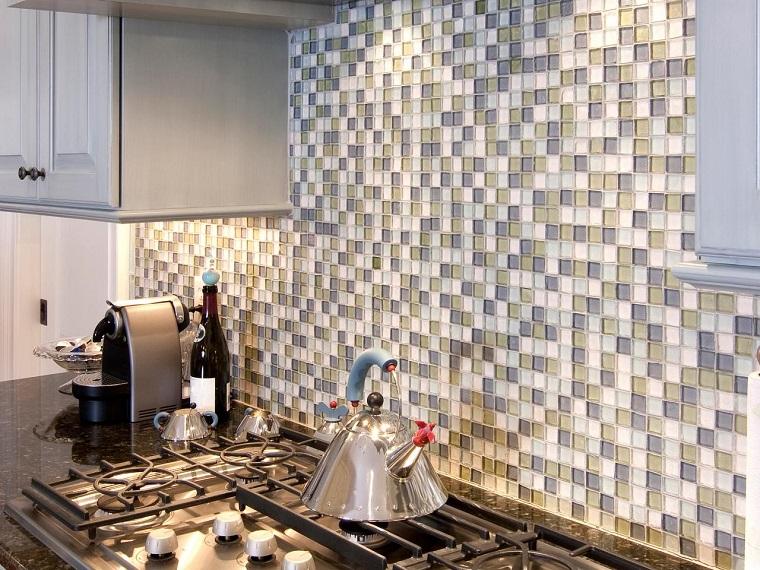 Panel de cocina 50 ideas para la pared de la cocina - Cocinas con mosaico ...