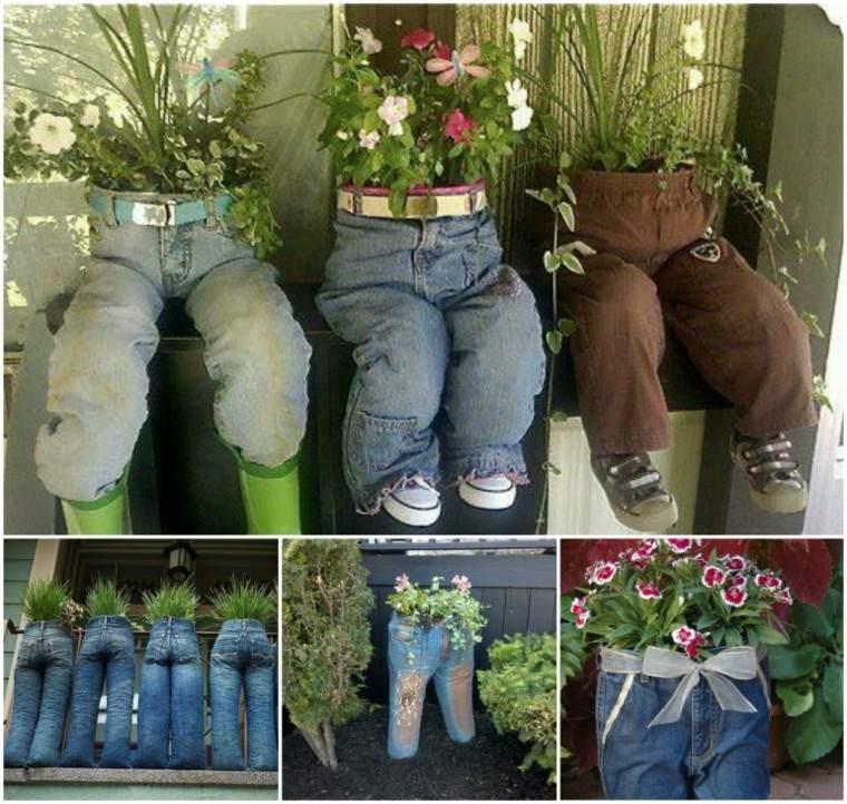 pantalones tela zapatos jean reciclados