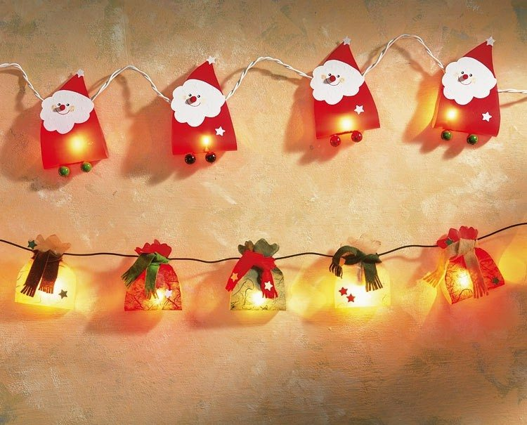 papa noel gurnalda luces navidenas preciosa ideas