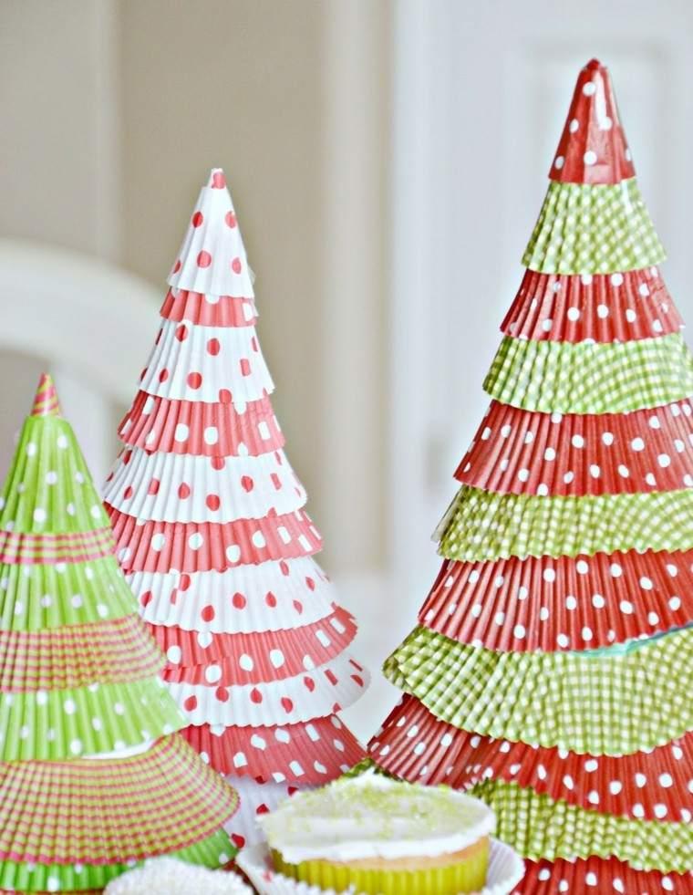 papeles dulces arbolitos navidad colores